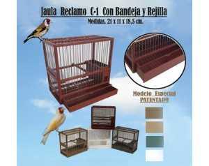 JAULA RECLAMO CON BANDEJA Y...