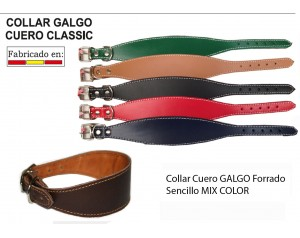 COLLAR CUERO GALGO