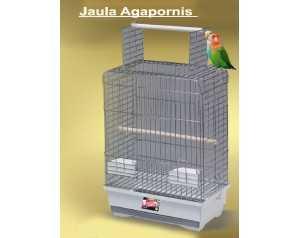 JAULA AGAPORNIS CROMO ABIERTA